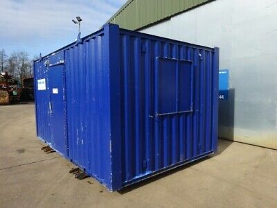 16ft Long 9ft Wide Blue Anti-vandal Office / Canteen / Cabin / Welfare Container
