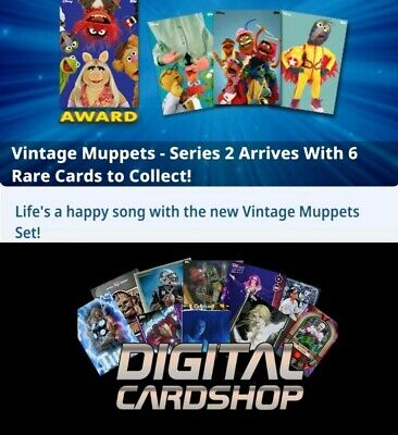 Topps Disney Collect Card Trader Vintage Muppets Series 2 Set of 6 Award Ready