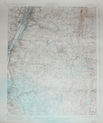 -Rare- 1937 -Troy, NY- Vintage US Geological Survey Topographical Map