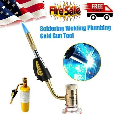 NEW Gas Self Ignition Turbo Torch Brazing Soldering Propane Welding Plumbing Gun