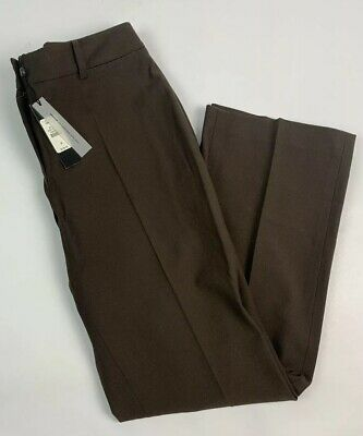 Talbots 8 Petites Womens Heritage Fit Pants Slacks Trousers Brown Polyester