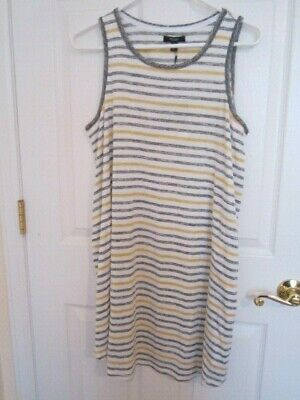 Women's Simply Vera Wang Sleep Lounge Weekend Nightgown Striped Sz L Or Xl Nwt!