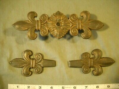 Antique Vintage Drapery Curtain Rod Fleur De Lis Embellishment & Finials 1920S?
