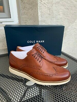 Cole Haan Men/'s Original Grand Shortwing Oxfords Woodbury//Ivory C26471 US Sizes