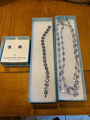 Touchstone Crystal by Swarovski SPLASH SHIMMER Set NIB