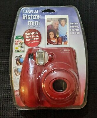 Red FujiFilm Instax Mini 7S Instant Print Camera with 10 Pack Film Sealed