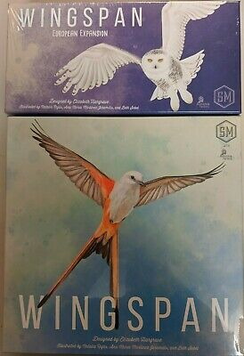 Wingspan Board Game (with swift-start pack) + European Expansion Brand New