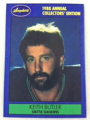 NFL 1988 Snyder's Seattle Seahawks Football Card - Keith Butler (Memphis)