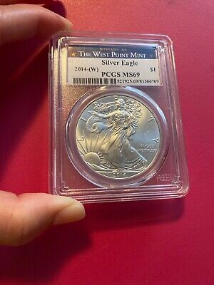 2014-W American Silver Eagle PCGS MS69 The West Point Mint BU - Perfect