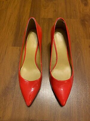Nine West Red Patent Leather Pumps Shoes - Size 8