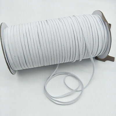 200 Yards White Black Elastic Band Rope Rubber Tape Ear Hanging Ropes Crafts USA