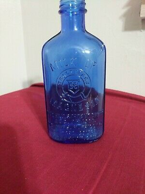 Vintage Milk Of Magnesia Blue Cobalt Bottle 1906