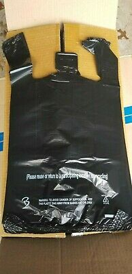 MyBrownBoxes MD Black Plastic Shopping Bag for Retail, Grocery Stores 10 x 5 x18