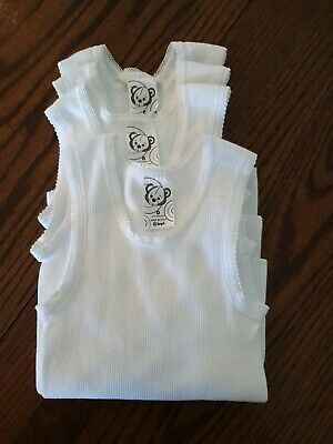 Baby Singlet Vest White x4  Size 0 New without tags