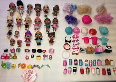 LOL Surprise Dolls lot with Accessories RARE LOLs  little sisters