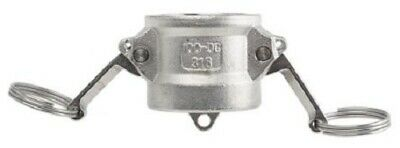 RS Pro COUPLER DUST CAP 1-Inch Stainless Steel