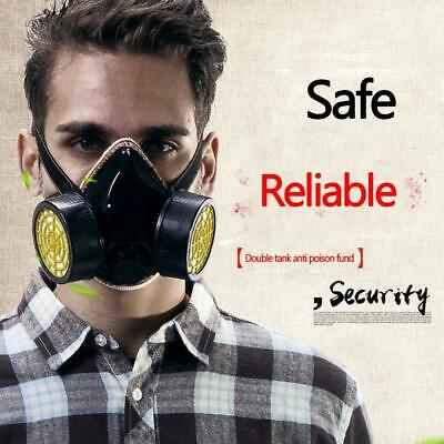 Emergency Survival Gas Mask Safety Respiratory Tool w/ 2 Dual Protection