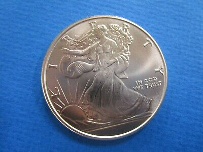 USA :Lady Walking  Liberty 1 Ounce Solid 999 Copper Bullion Coin Proof Like.
