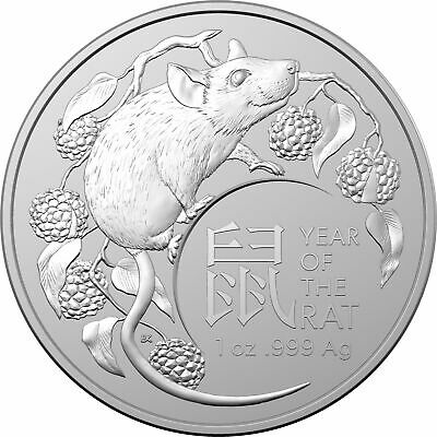 2020 Year of the Rat / Mouse 1oz .999 Silver Bullion Coin - Lunar Series - RAM