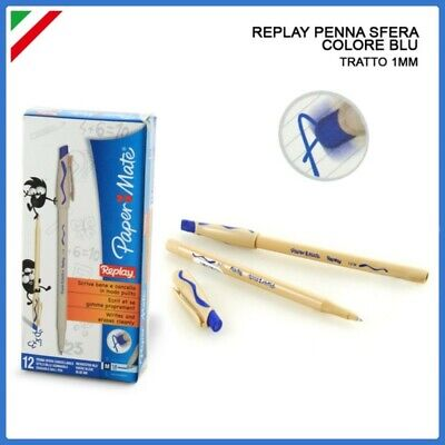 Penna Replay Cancellabile Papermate 3Pz Blu + 2 Pz Rosso