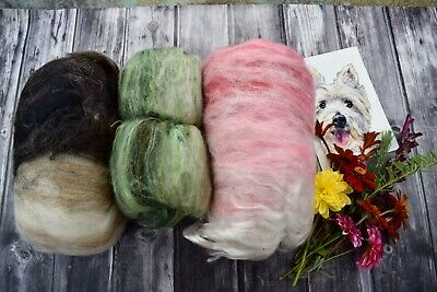 """Hand Carded   Kitchen Sink Batt , Mixed Bag X 246 Grams """"Colour Therapy"""""""