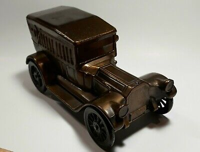 1917 Ford Model T Coin Bank Bronze Die Cast Banthrico, Chicago, Made in 1974 VTG