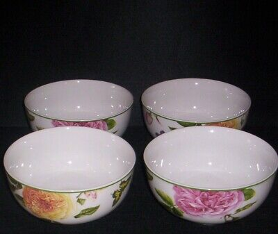 Spode Home ROSES Butterflies Bowl  Set of 4 NEW