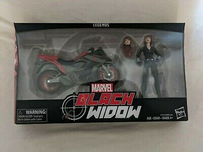 Marvel Legends Series 6-inch Black Widow with Motorcycle NEW SEALED - Smashpie1