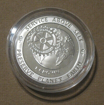 Gibraltar - 1991 Proof Silver Crown - Rotary Club