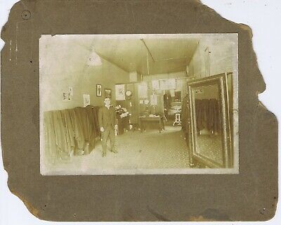 Tailor suits cleaners pressing cabinet photograph Kansas City MO Hardesty 1900s