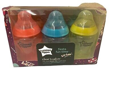 Tommee Tippee Closer to Nature Fiesta Fun Time Baby Bottles - 9 oz 6 Pack (H)