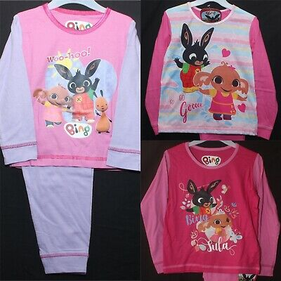 BING BUNNY Pyjamas/Girl's Cotton BING & SULA PJs in 3 styles 18 months-5 Years