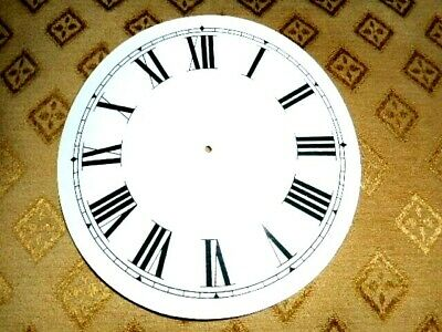 "Round Paper (Card) Clock Dial - 3 3/4"" M/T - Roman - WHITE GLOSS - Parts/Spares"