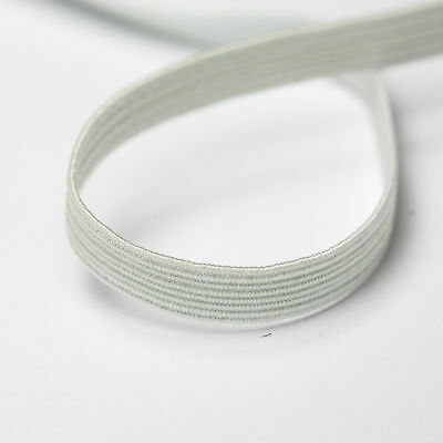 Clearance Line - 200 Yards 8-Cord/ 6mm Flat Elastic White (10 cards × 20 yards)