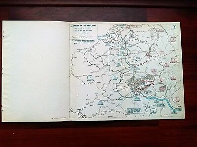 1940 WWII Map Battle of Flanders Situation May 16 and Operations Pretelat