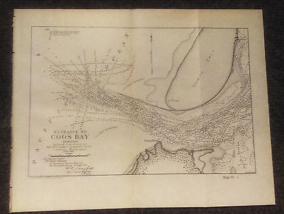 1905 Map of Coos Bay Oregon Army Corps of Engineers