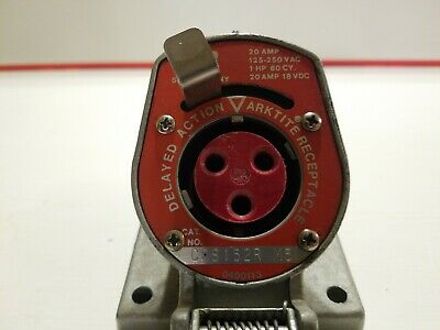 NOS Crouse-Hinds Delayed Action Arktite Receptacle 20 Amp 125-250VAC CPS152R M5