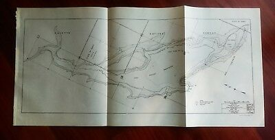 1950 Columbia River Recreation Survey Map Payette National Forest Dam Idaho
