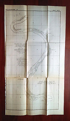 1882 Sketch Map Lake Providence Reach LA Mississippi River Point Lookout