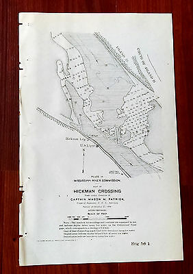 1898 Mississippi River Commission Hickman Crossing Capt. Patrick