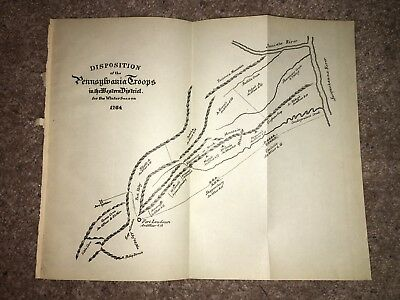 1904 Map of 1764 Map Diagram Disposition of PA Troops in Western District Winter