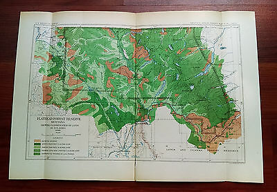 1898 USGS Sketch Map Flathead Forest Reserve Montana Great Northern Railroad