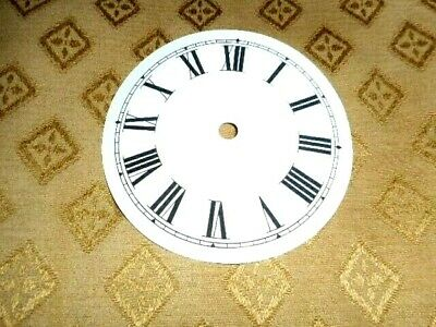 "Round Paper (Card) Clock Dial - 3 1/4"" M/T - Roman - HIGH GLOSS  - Parts/Spares"