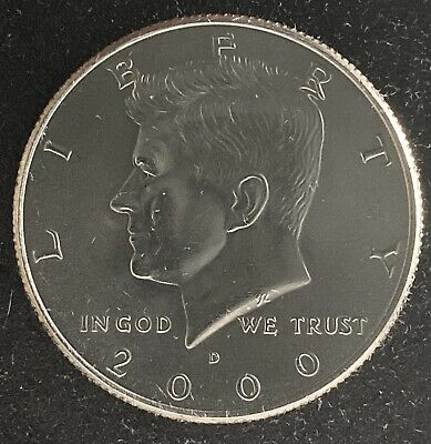 2000 D Kennedy Half Dollar Bu Uncirculated Coin (1322)