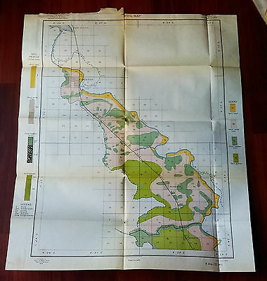 1899 US Dept of Agriculture Soil Color Map Carlsbad NM