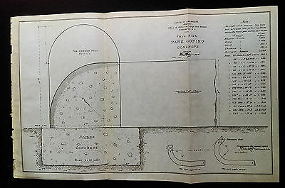 1904 Sketch Diagram Park Coping Concrete used at Dupont Circle DC