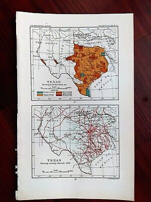 1903 USGS Texas Showing Existing Railroads and Unsettled Areas