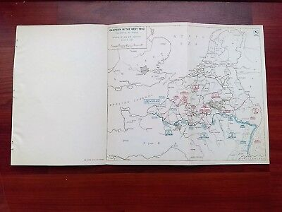 1940 WWII Map Situtation June 12 and Operations Battle of France Dunkirk