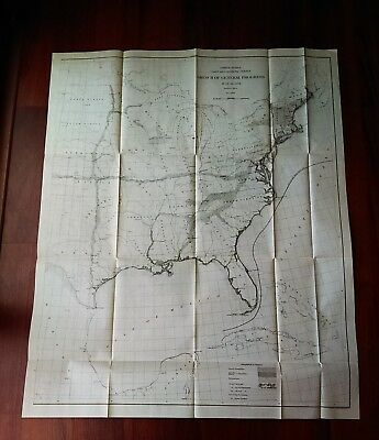 1908 US Sketch General Progress Survey Map Eastern US i territory