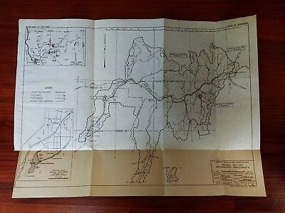 1949 Map and Recommended Improvements Humboldt River Tributaries Nevada
